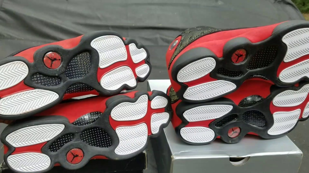 01a89d37002d4c 2017 vs 2013 Jordan 13 Bred Ratchet Comparison!! - YouTube