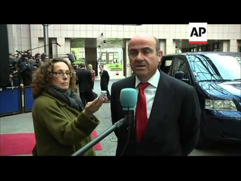 EU finance ministers meet; UK, Spanish mins and Juncker