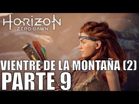 HORIZON zero dawn - PARTE 9 - EN EL VIENTRE DE LA MONTAÑA 2 - ps4 PRO 1080P 60FPS