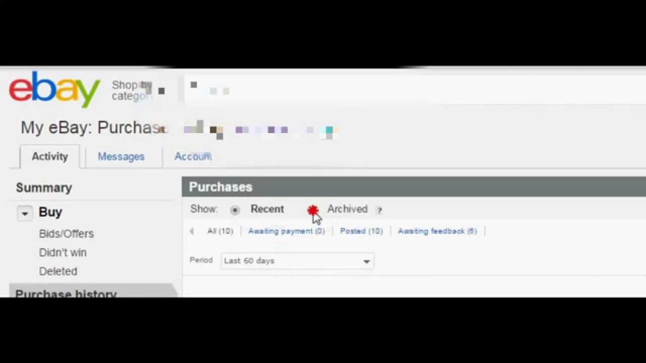 OLD) Ebay Archive - YouTube