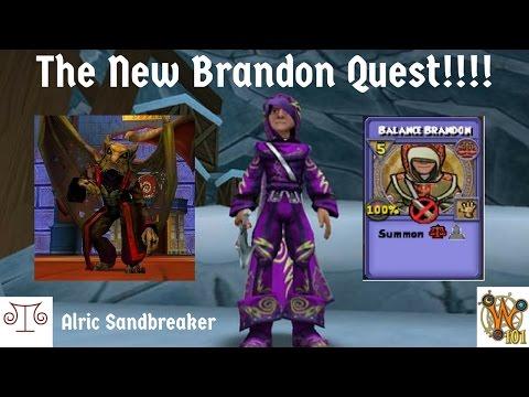Wizard 101: New Brandon Quest and Getting Brandon Minion Treasure Cards and Jewel!