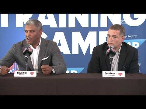 Scott Perry & Steve Mills Explain Decision to Trade Carmelo Anthony | New York Knicks | MSG Networks