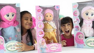 Unboxing Boneka Lucu Anisa Hijab Walking Doll dan Aliya Hijab ♥ Kids Play with Talking Walking Doll