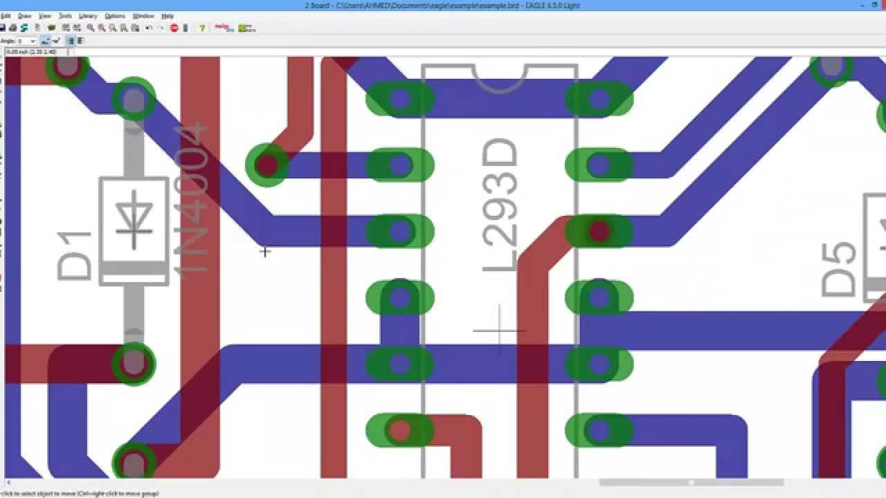 EAGLE CAD Tutorial Part 2 PCB Layout and routing - YouTube