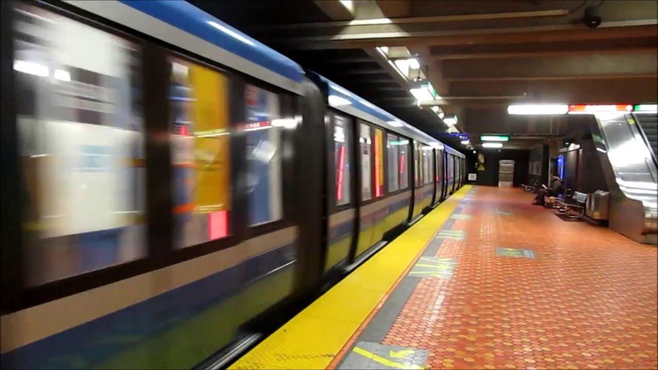 Montreal Azur Train Deadheading On The Green Line Train