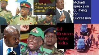 ED fires 4 Chiwenga Coup Genarals, Removes Army Aide, Mohadi Claims Successorship, Biti no longer MP