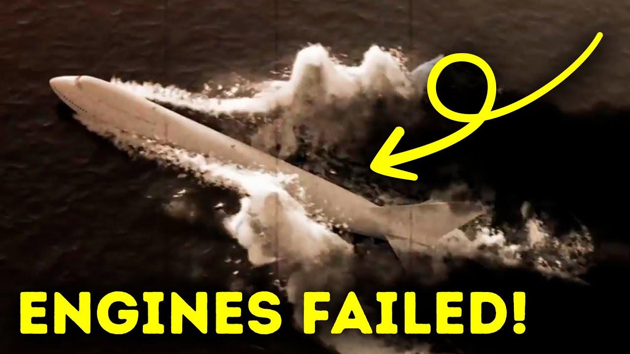 A Plane Went Underwater But There Was Only Chance to Survive