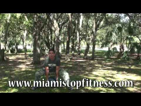 Legs and arms exercises at Miami Fitness Boot Camp