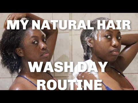MY NATURAL HAIR WASH DAY ROUTINE!!!!