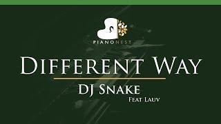 DJ Snake - Different Way Feat Lauv - LOWER Key (Piano Karaoke / Sing Along)