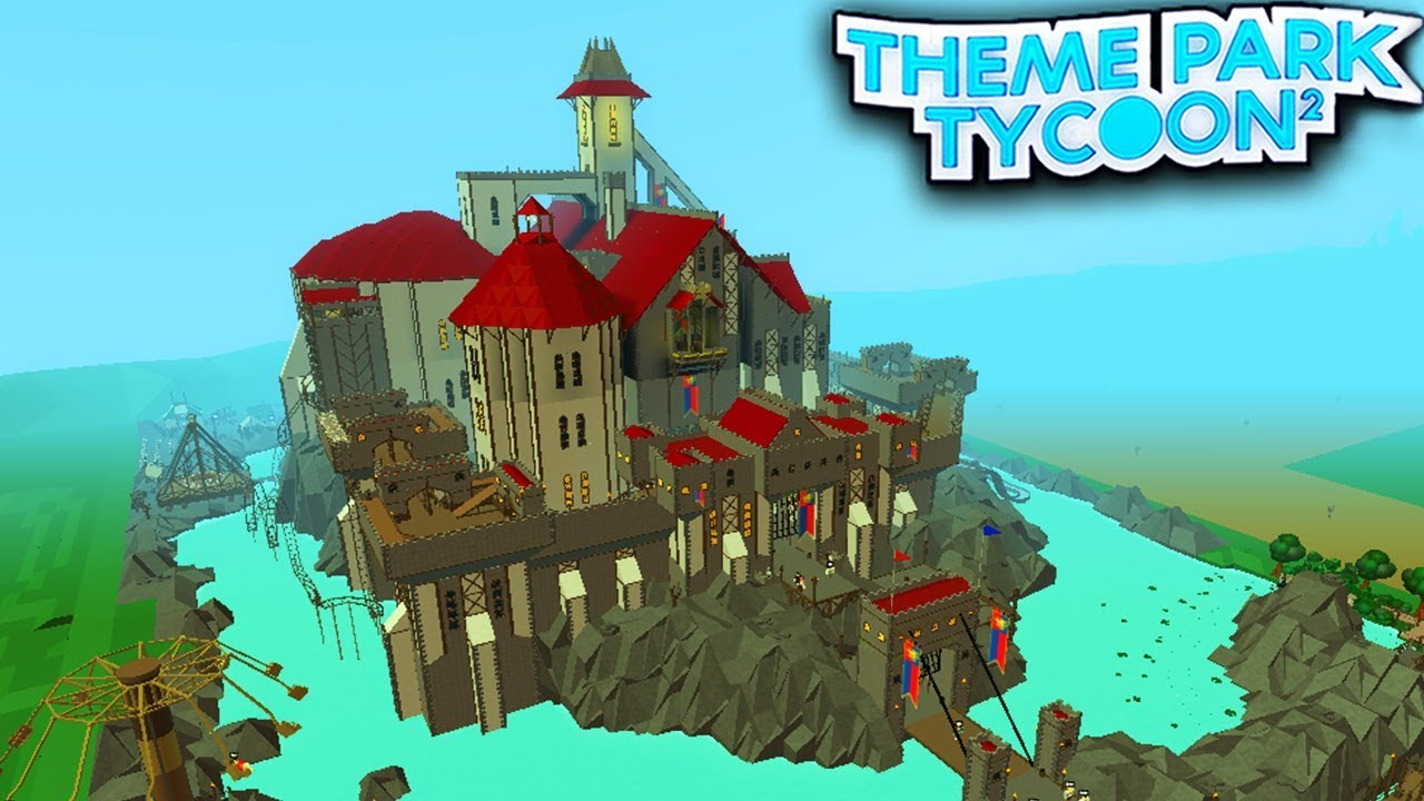 BEST CASTLE EVER in Theme Park Tycoon 2!! - Roblox