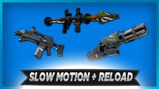 ALL FORTNITE WEAPONS in SLOW MOTION + RELOAD (Weapon Showcase)