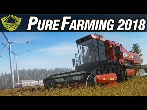 Pure Farming 2018 Gameplay #28 - Wheat and Rye Harvesting - Free Farming PC Sandbox Gameplay