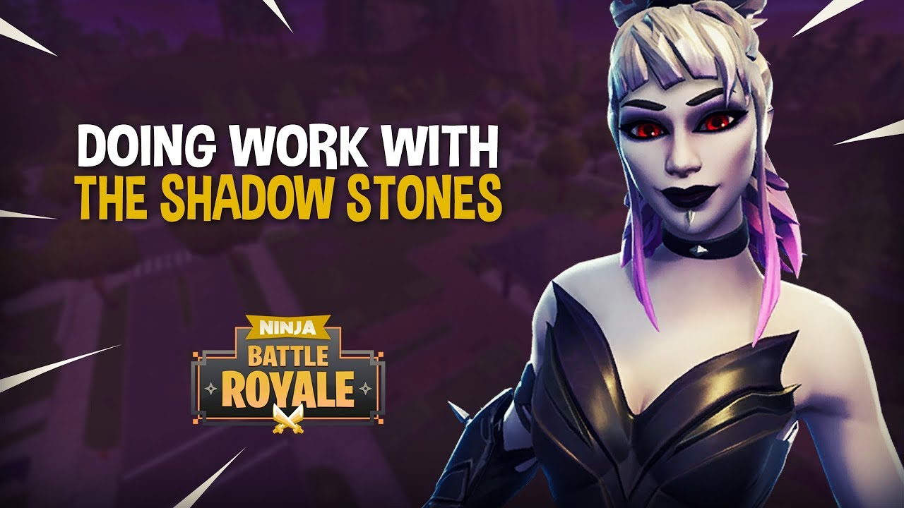 Doing Work With The Shadow Stones Fortnite Battle Royale