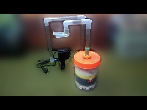 How To Build DIY External Filter Media From Plastic Jar And Submersible Pump
