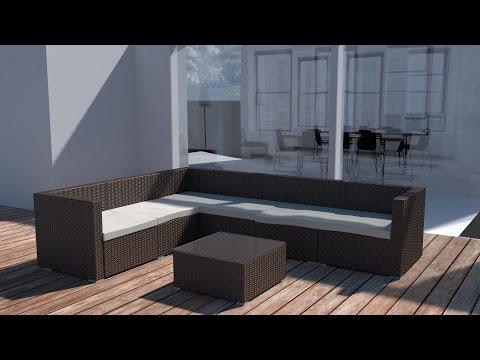 Polyrattan Lounge Marbella, Aufbauanleitung | TecTake