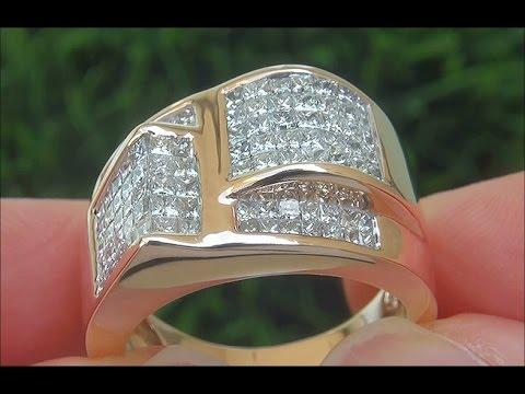 certified-jewelry-men's-vs2/g-natural-diamond-14k-rose-gold-gentlemen's-ring---c875