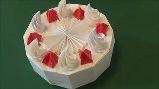 「ホールケーキ」折り紙