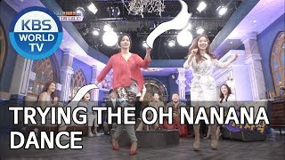 Announcers dancing to Oh Nanana [Happy Together/2019.05.30]