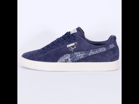 25a8148e9ff Unboxing Review sneakers PUMA Basket Clyde Marine FM 36478701 - YouTube