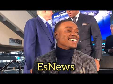 Errol Spence Reveals Why He Smiled When He Faced Off With Mikey Garcia