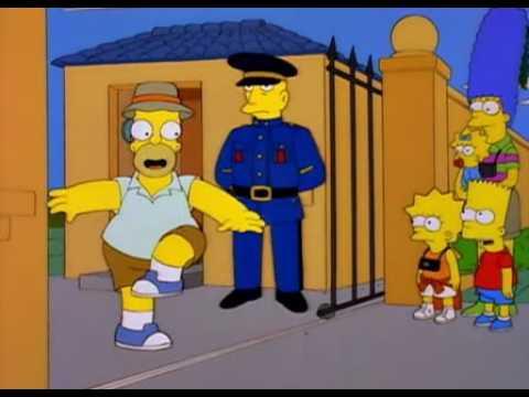 Homer Simpson - Australia, America, Australia, America