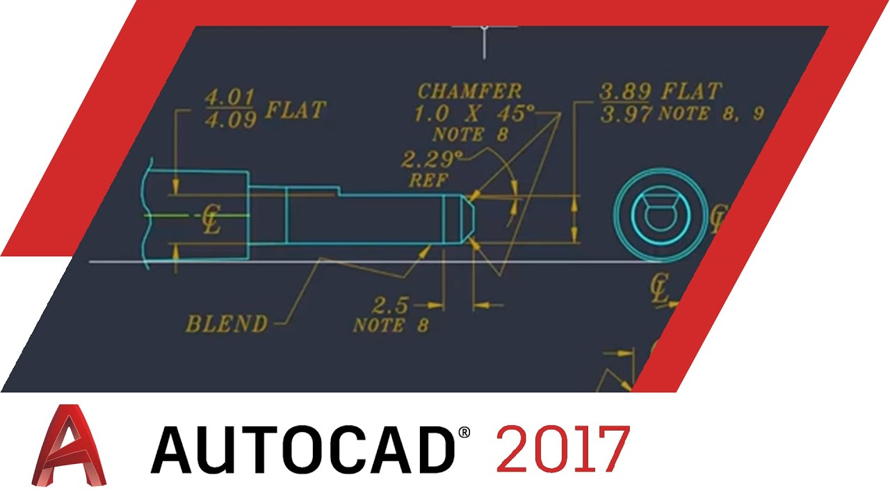 Centerlines And Center Marks Autocad 2017 Tutorial Autocad Youtube