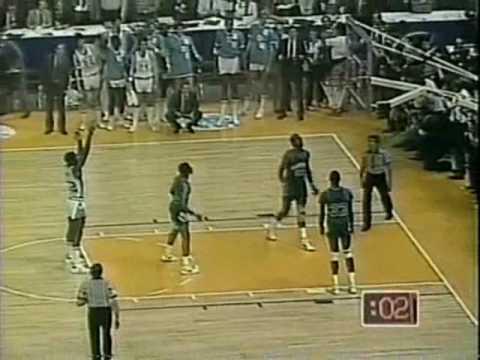 1982 NCAA Championship - UNC vs Georgetown - Jordan, Worthy, Ewing, and Floyd Highlights
