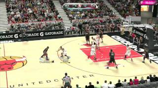 NBA 2K10 Gameplay - Miami Heat vs. Chicago Bulls, Quarter 1