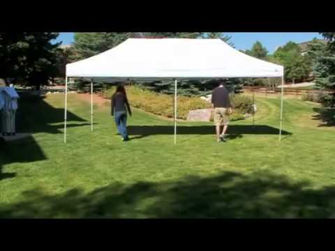 Pop Up Canopy Tent >> eCanopy.com - Undercover Canopy 10x20 Popup Tent - YouTube