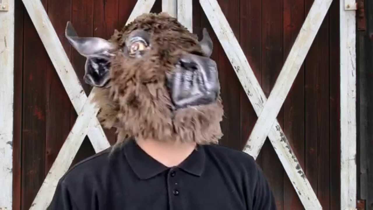 buffalo deluxe latex mask halloween masks trendyhalloweencom