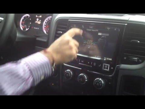 """2015 Dodge Ram 1500 Alpine 9"""" Navigation System Installed"""