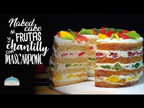 Receta Naked Cake o tarta desnuda muy f�cil de preparar. Loli Dom�nguez