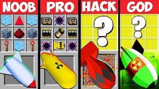 Minecraft Battle: NUKE MOD CRAFTING CHALLENGE -  NOOB vs PRO vs HACKER vs GOD ~ Animation