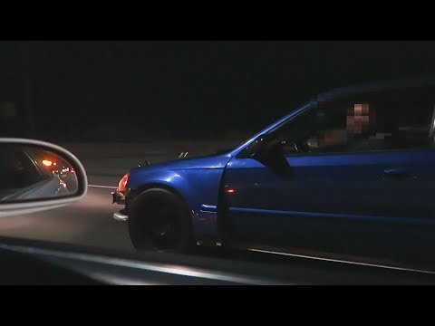 Mr2 takes on 600hp Civic