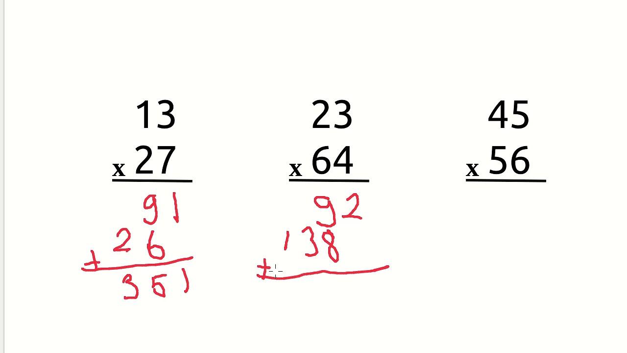 3 Sinif Matematik Carpma Islemi 3 Iki Basamakli Sayi Ile Iki