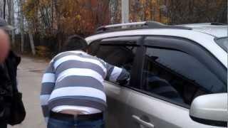 Взломали служебную машину(Сработала автоблокировка машины, а ключ остался в замке зажигания. Запасные ключи - в двухстах км, решили..., 2012-10-27T14:04:48.000Z)