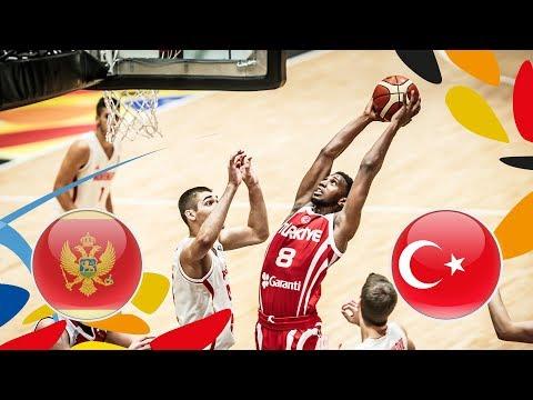 Montenegro v Turkey - Full Game - FIBA U20 European Championship 2018