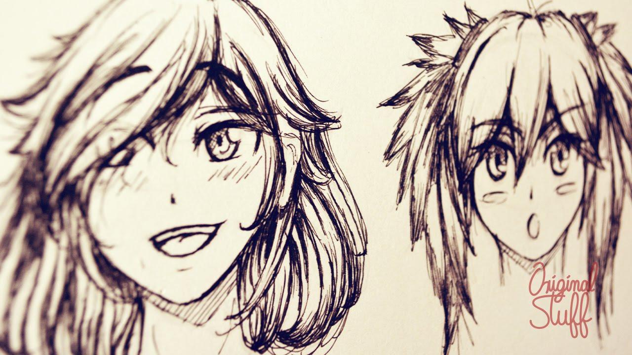 ¿Cómo Dibujar Cabello Tipo Manga/Anime? [Introducción]