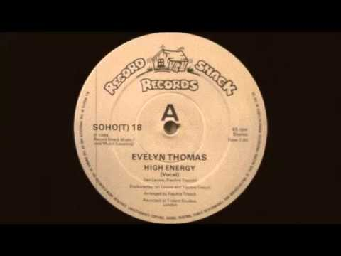 Evelyn Thomas - High Energy (Vocal) Record Shack Records 1984