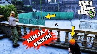 SİYAH NİNJALAR EVİMİZİ BASTI! - GTA 5 ZOMBİ MODU