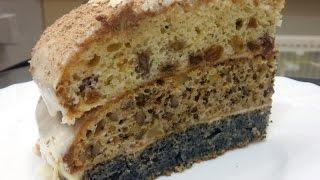 ОЧЕНЬ ВКУСНЫЙ ТОРТ С ОРЕХАМИ, МАКОМ И ИЗЮМОМ. Простой и быстрый рецепт приготовления вкусного торта.