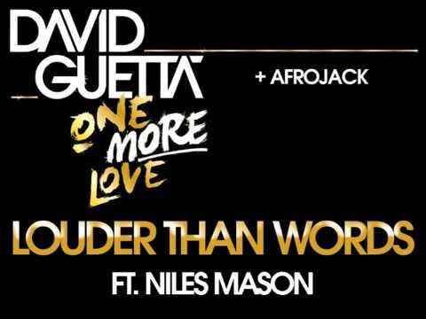David Guetta  u0026 Afrojack   Louder Than Words
