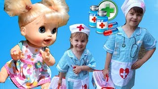 FUNNY KIDS PRETEND PLAY WITH DOCTOR TOYS SONGS NURSERY RHYMES FOR CHILDREN