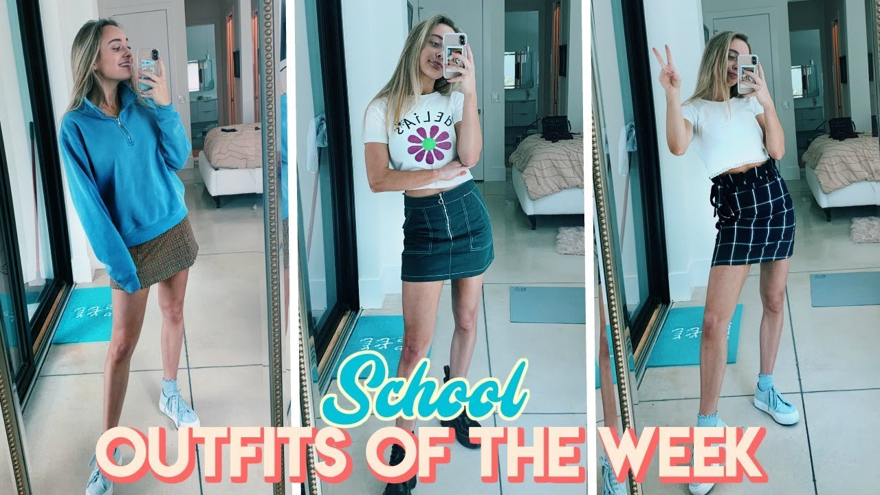School Outfits of the Week! (what i wear to high school)