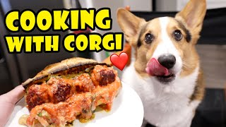 COOKING with CORGI DOG: Breakfast, Lunch + Dinner || Life After College: Ep. 692
