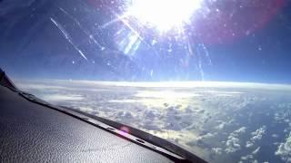 cessna citation c525a cj2 cockpit landing palma de mallorca with taxi