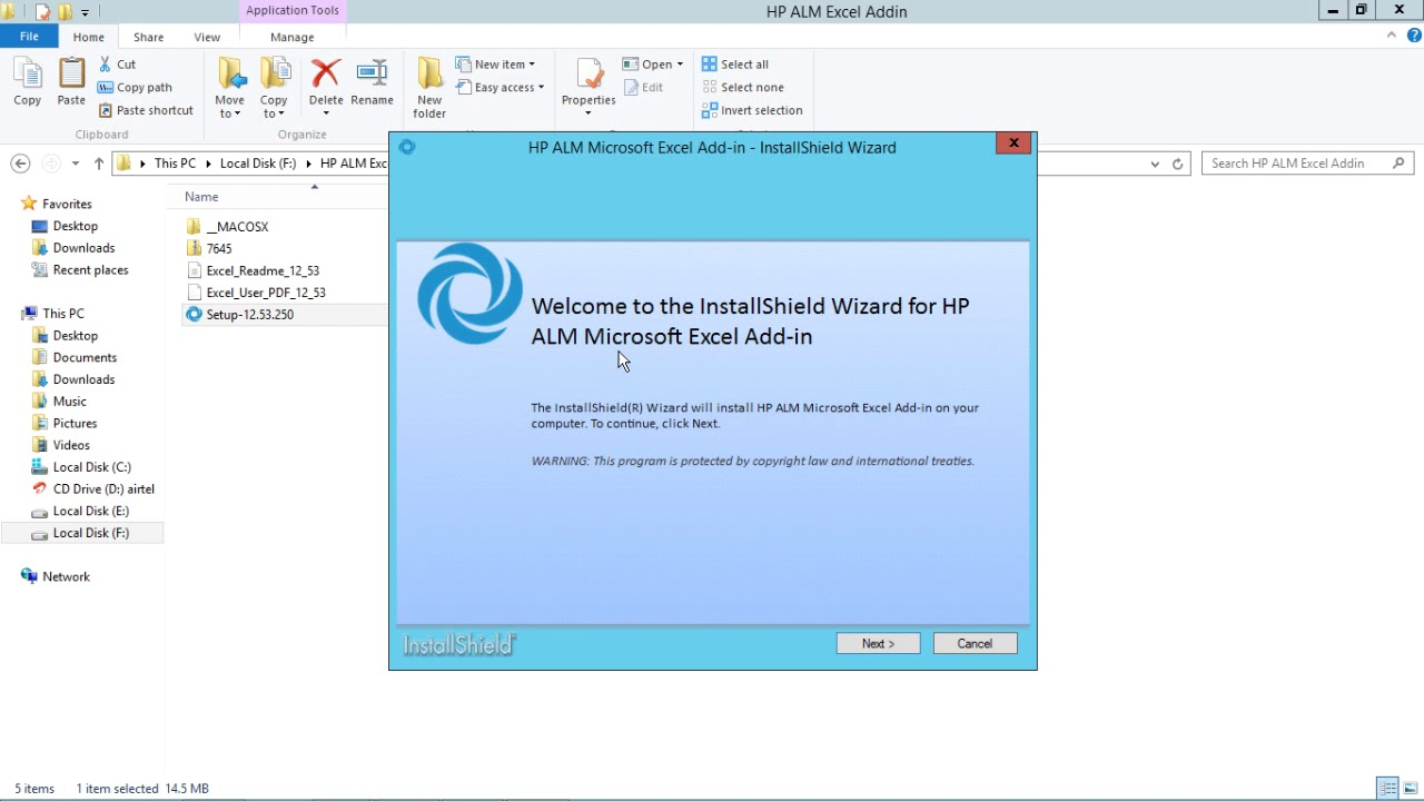 HP ALM - Install Excel Add-ins