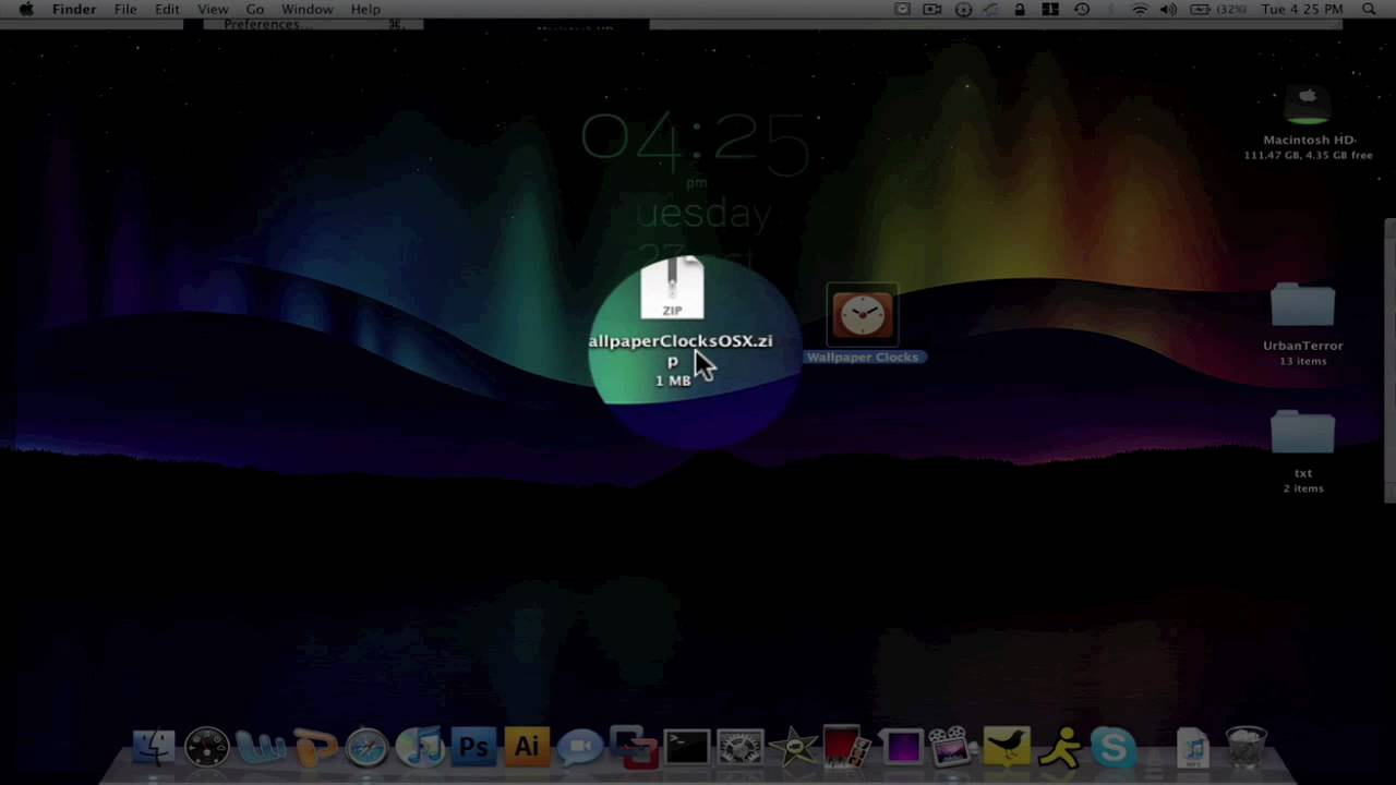 How To Get A Live Desktop Clock Wallpaper