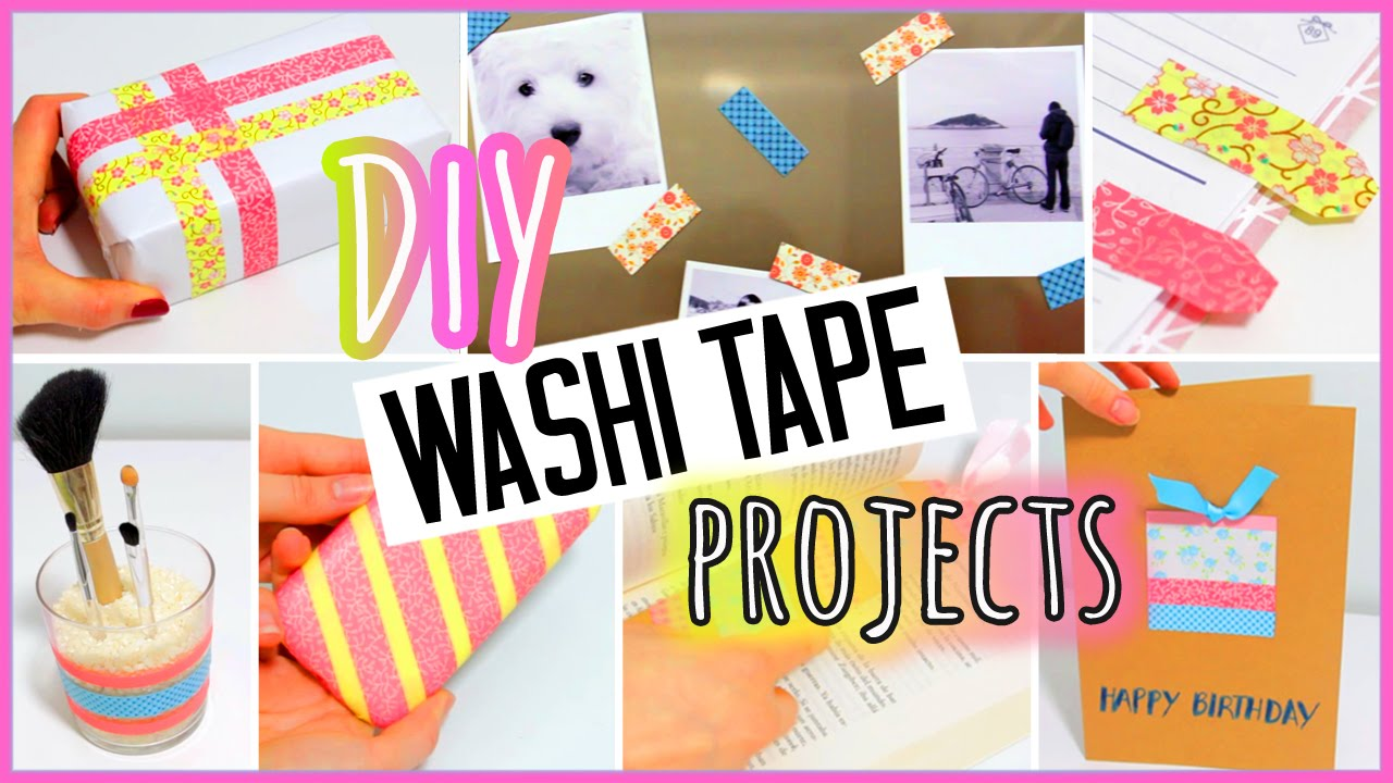 Washi Tape Crafts 7 Diy Washi Tape Projects You Need To Try Easy  Youtube